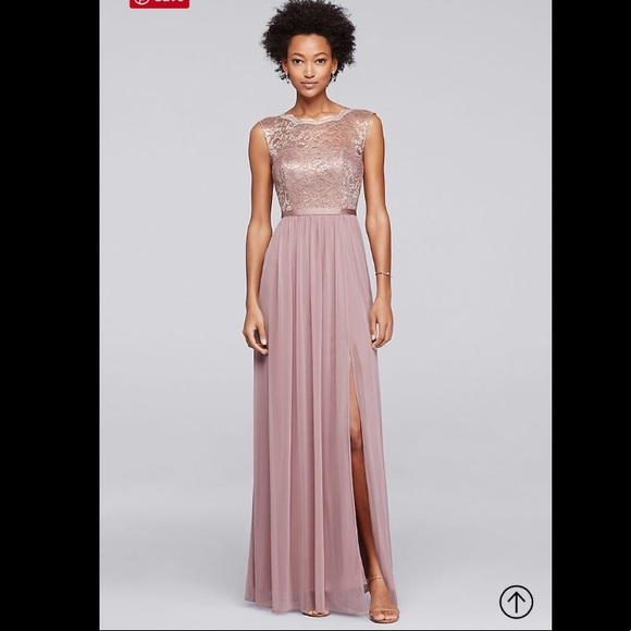 David S Bridal Dresses Rose Gold Metallic Bridesmaid Dress Poshmark
